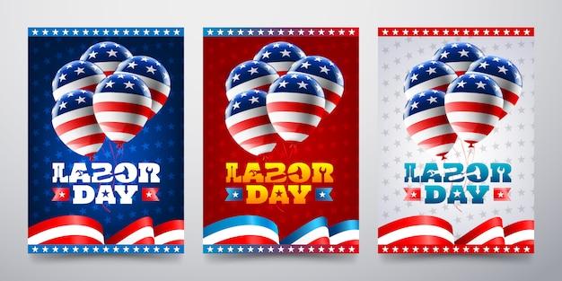 風船カードで幸せな労働者の日