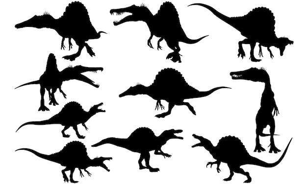 スピノサウルス恐竜シルエット