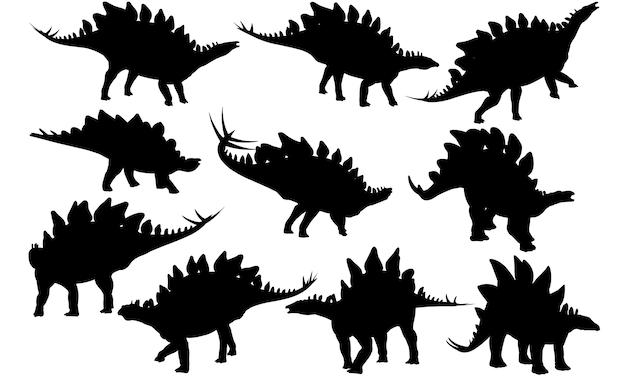 ステゴサウルス恐竜シルエット