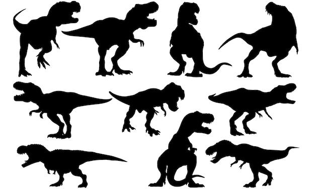ティラノサウルス恐竜シルエット