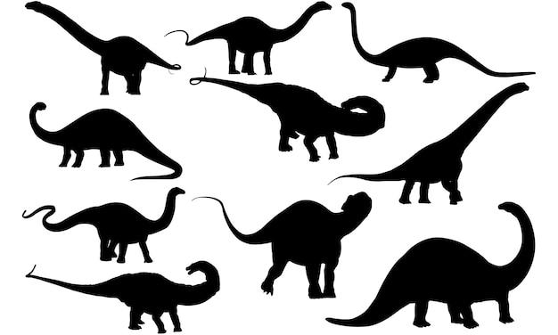 アパトサウルス恐竜シルエット