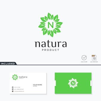 Натуральный лист дизайн логотипа