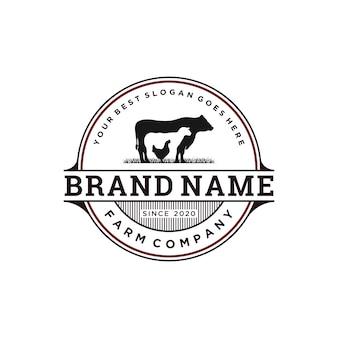 Старинный дизайн логотипа домашнего скота