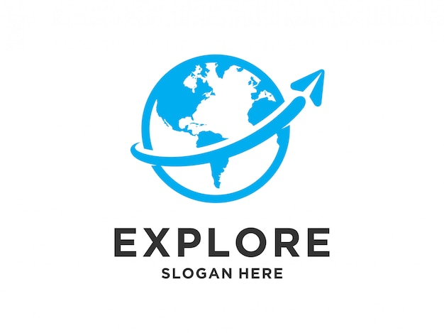 旅行のロゴデザイン。