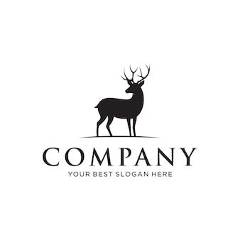 ビジネスのロゴのエレガントな鹿の概念