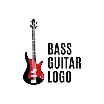 Бас-гитара логотип, дизайн концепции вдохновения