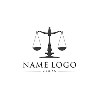 法のロゴのテンプレート