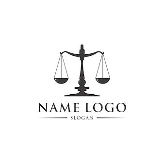 Шаблон логотипа закона