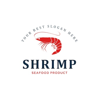 Креветки дизайн логотипа вдохновения