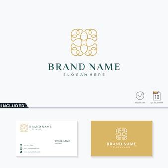 Цветочный логотип вдохновения