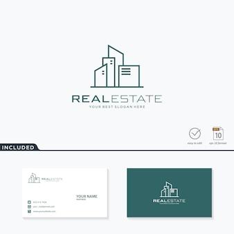 Недвижимость дизайн логотипа вдохновения