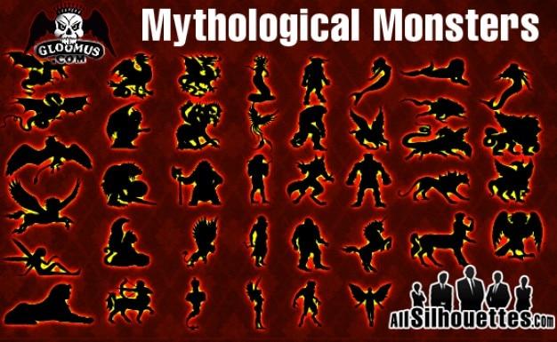 ベクトル神話モンスター