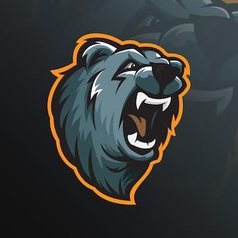 Медведь талисман логотип