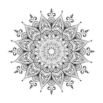 Мандала на черном и белом