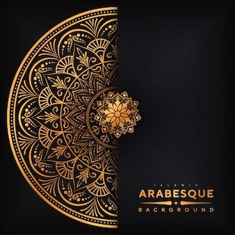 Роскошный арабский фон мандалы