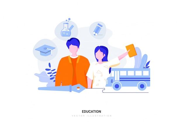 Концепция образования иллюстрации