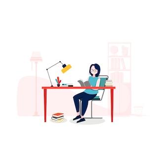 Иллюстрация образования в плоском стиле