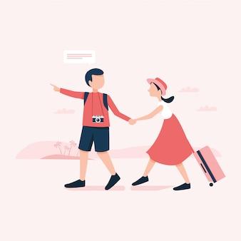 Приятного путешествия иллюстрация