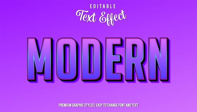 Современный фиолетовый стиль редактируемый текстовый эффект