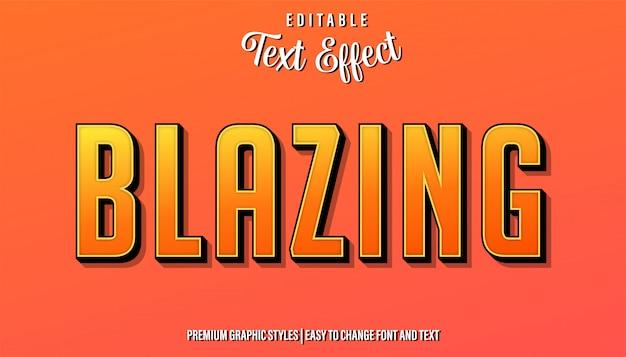 Пылающий красный стиль редактируемый текстовый эффект