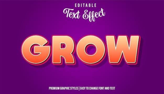 Расти апельсин, редактируемый стиль текста