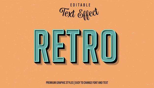 Ретро - винтажный стиль редактируемый текстовый эффект