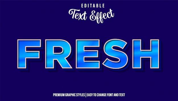 Свежий, синий стиль, редактируемый текстовый эффект