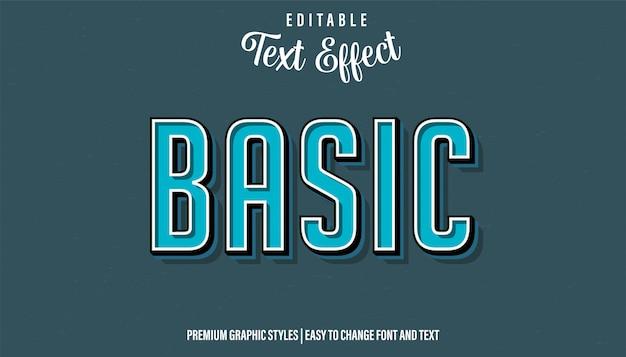 Базовый ретро-стиль, редактируемый текстовый эффект