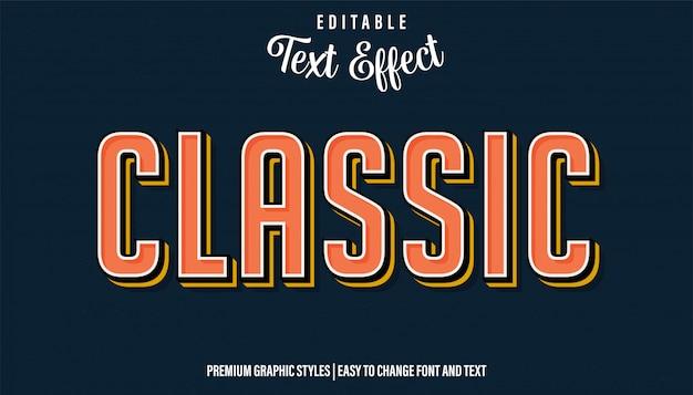 Классический винтажный стиль, редактируемый текстовый эффект