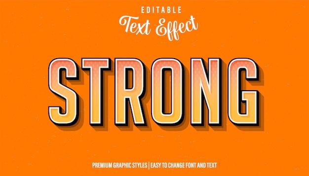 Сильный ретро винтаж стиль редактируемый текстовый эффект
