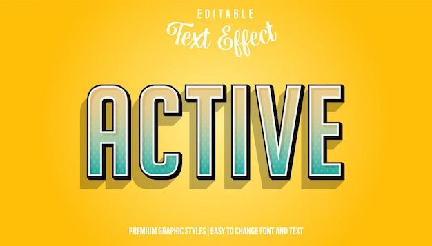 Активный современный градиентный стиль редактируемый текстовый эффект