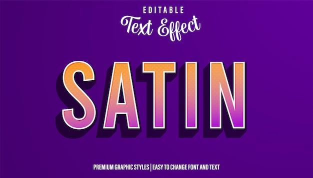 Атласный современный градиентный стиль редактируемый текстовый эффект