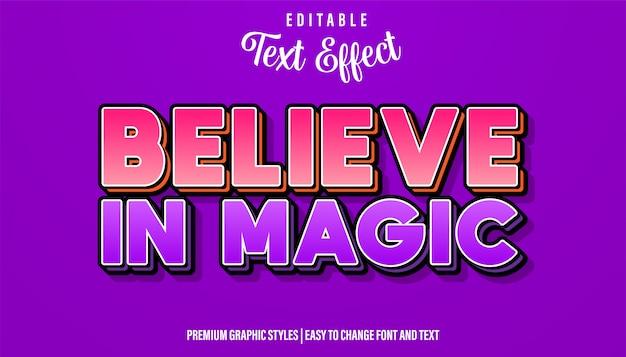 Поверь в магию, редактируемый стиль текста