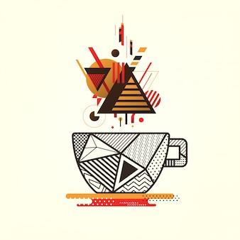 Геометрический фон чашки