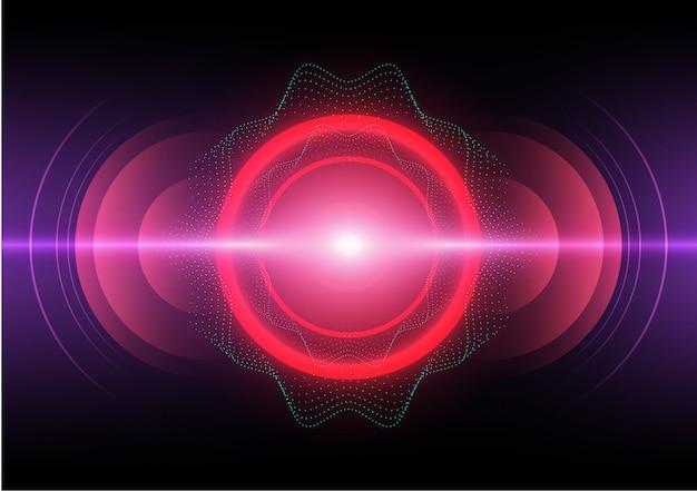 Абстрактный фон цифровой звуковой волны