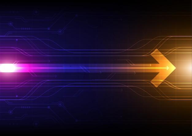 Абстрактный фон технологии, футуристическая цифровая сеть связи