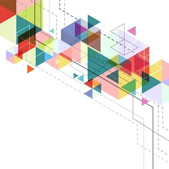 Фон с геометрическими фигурами
