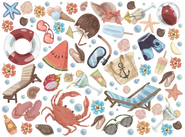 Летний отдых аксессуары пляжный набор