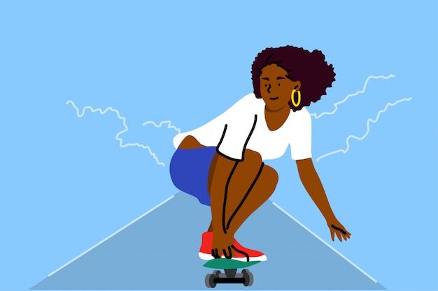 Скейтбординг, спорт, отдых, летнее понятие.