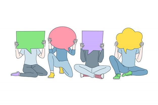 世論の多様性、コミュニケーション、対話のコンセプト
