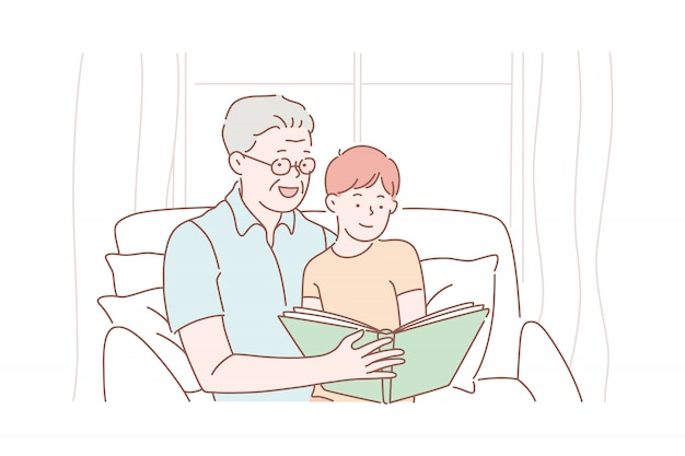 Дедушка день, дедушка, детство.