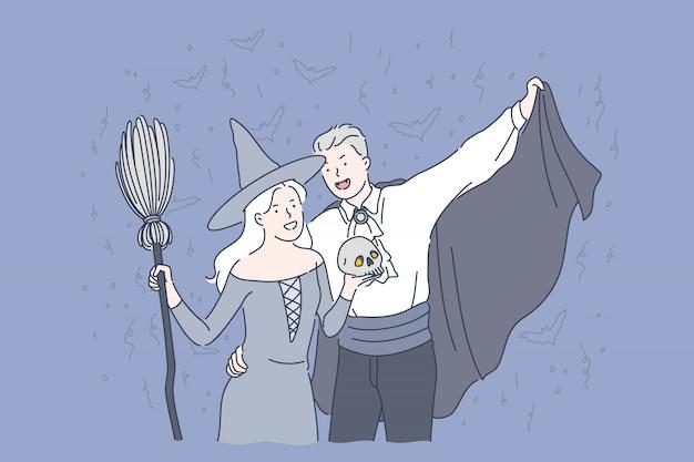Концепция вечеринки в честь хэллоуина.