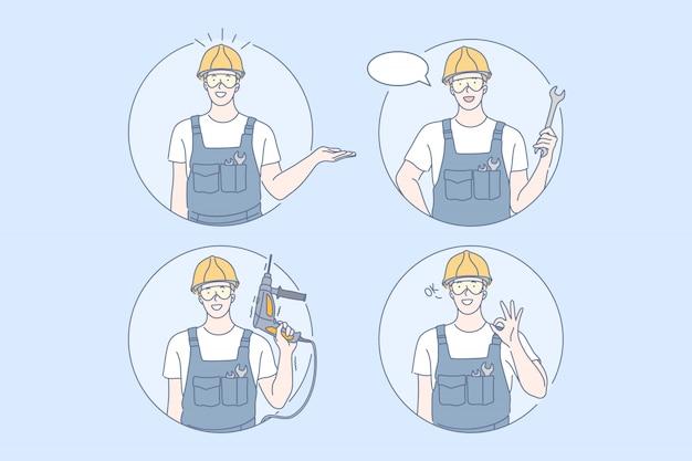 Концепция строительства, ремонта, работы