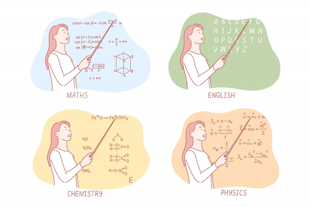 Преподавание школьных предметов устанавливает концепцию