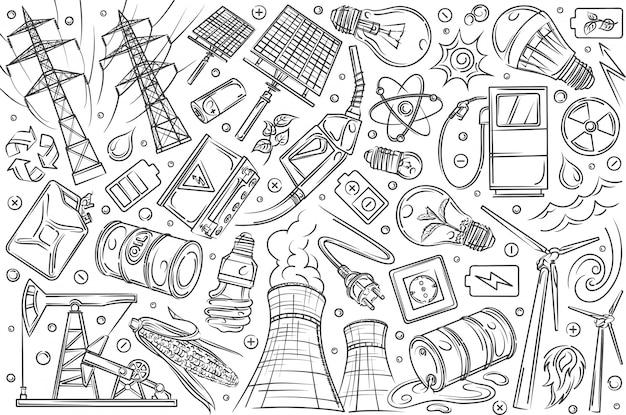 手描きの近代的な技術と革新。