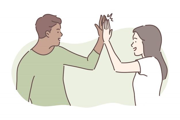 Дружба, концепция успеха