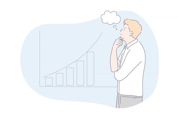 ブレーンストーミング、分析、ビジネスコンセプト