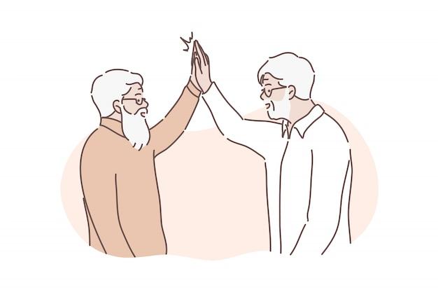 Концепция дружеского приветствия