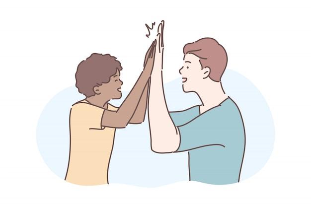 Дружба, неформальная концепция приветствия