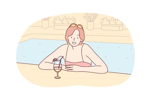 Летние каникулы, отпуск, отдых, туризм, путешествия, концепция отдыха